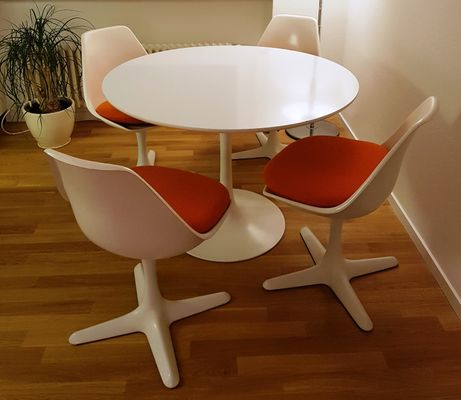 Vintage Tulip Table U0026 4 Chairs By Maurice Burke For Arkana For .