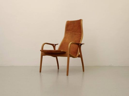 Suede Lamino Chair By Yngve Ekström For Swedese, 1964 8
