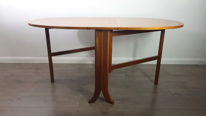 MidCentury Fold Out Teak Dining Table from Nathan 1980s for sale