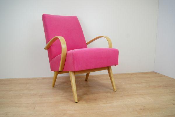 Pink Armchair By Jindřich Halabala, 1950s 5