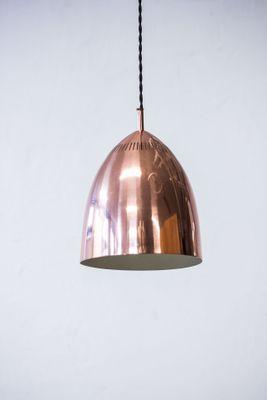 swedish copper pendant lamp from asea 1960s 2