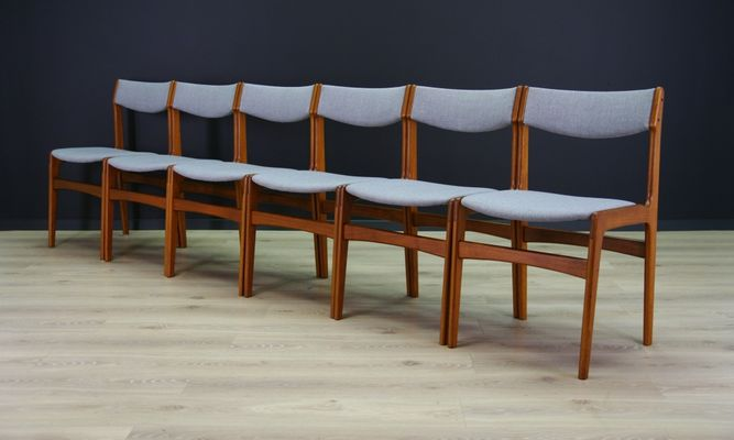 Mid Century Danish Teak Chairs, Set Of 6 2