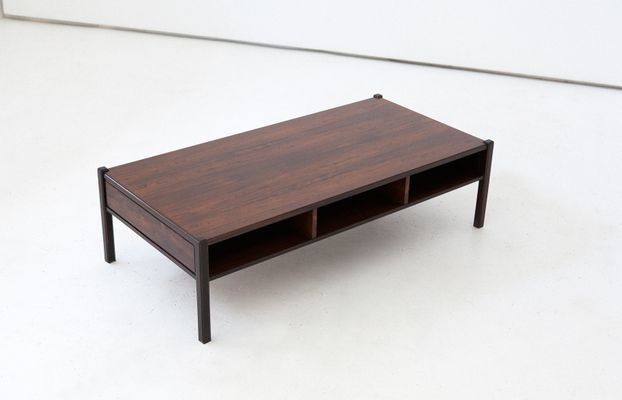 Italian Rosewood Coffee Table, 1960s 1