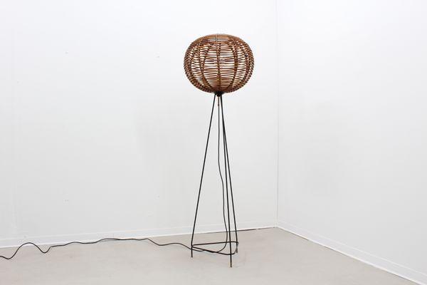 Mid Century Rattan Floor Lamp 1