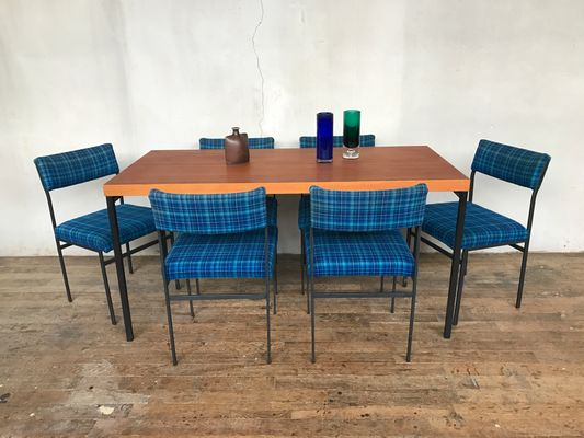 Teak Dining Table By Dieter Wäckerlin For Behr With 6 Chairs, 1950s 12