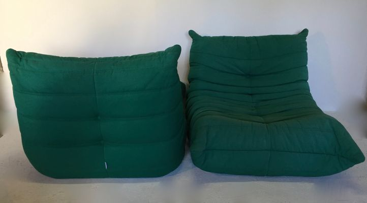 Togo Lounge Chairs By Michel Ducaroy For Ligne Roset, Set Of 2 5