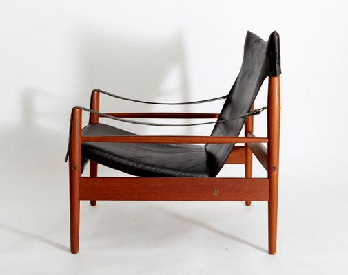 Vintage Antilope Safari Chair By Hans Olsen For M Viskadalens Möbelindustri  2