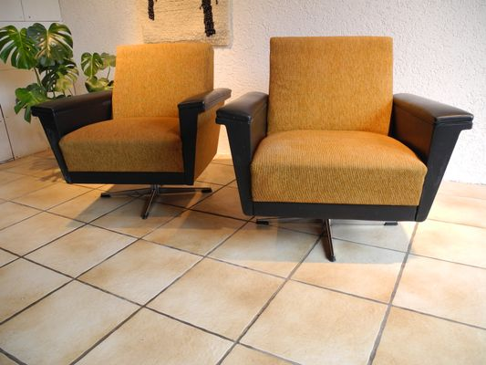 Large Lounge Chairs, 1960s, Set Of 2 2