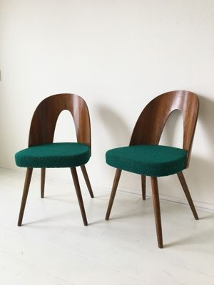 Green Dining Room Chairs by Antonin Suman for Tatra, 1960s, Set of ...