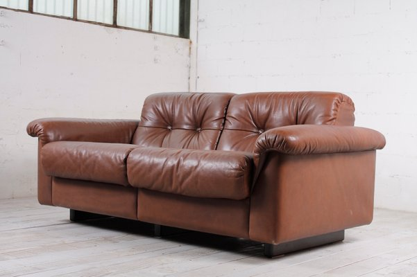 Vintage 2-Seater Leather Sofa, 1960s 1