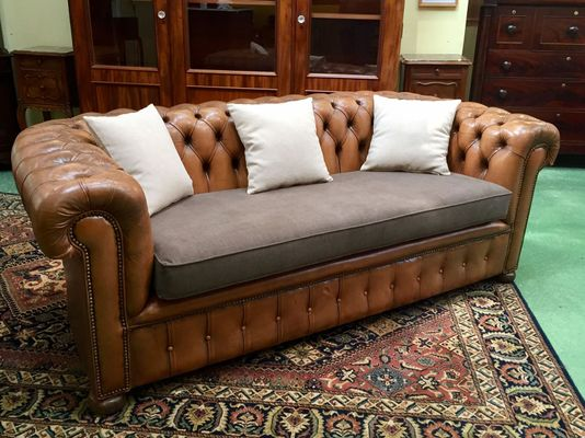 Vintage Chesterfield Leather Sofa, 1970s 1
