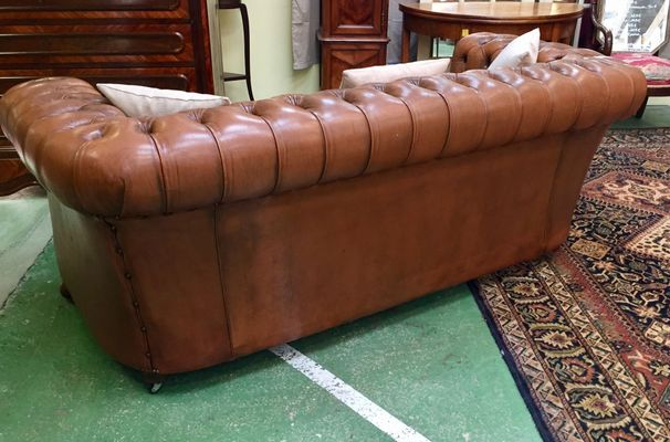 Vintage Chesterfield Leather Sofa, 1970S For Sale At Pamono