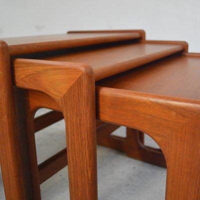Danish Nesting Tables In Teak, 1960s 9