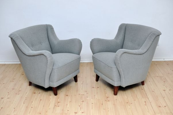 Grey Armchairs, 1950s, Set Of 2 2