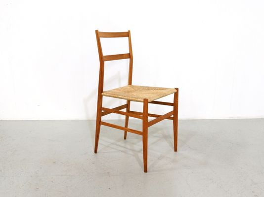 Superleggera Dining Chair By Gio Ponti For Cassina, 1950s 1