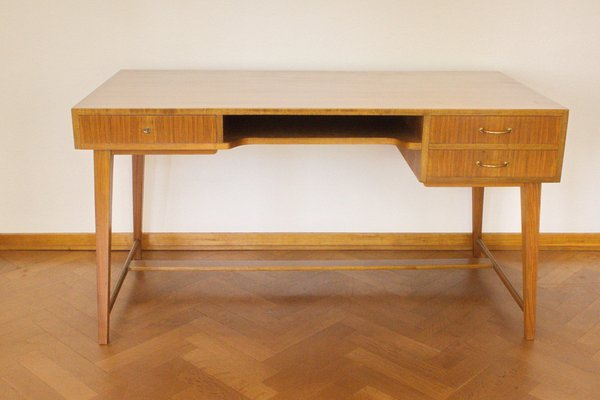 Mid-Century 468 Walnut Desk by Georg Satink for WK Möbel, 1950s ...