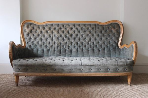 Spanish Sycamore Sofa 1940s for sale at Pamono