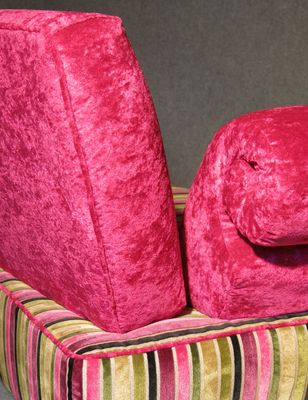 Pink Italian Art Deco Velvet Chaise Lounge 7 : pink chaise lounge - Sectionals, Sofas & Couches