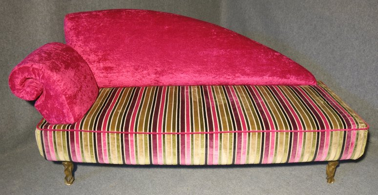 Pink Italian Art Deco Velvet Chaise Lounge 1 : pink chaise - Sectionals, Sofas & Couches