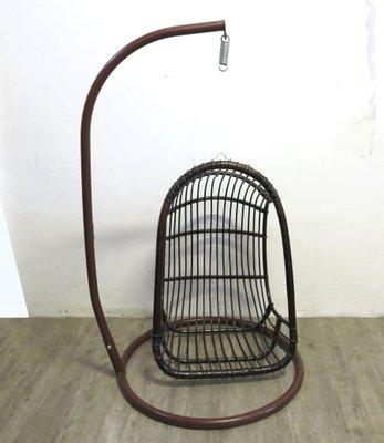 Vintage Rattan U0026 Bamboo Hanging Egg Chair 5