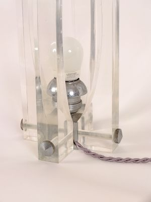 Italian Lucite Table Lamp 1970s for sale at Pamono