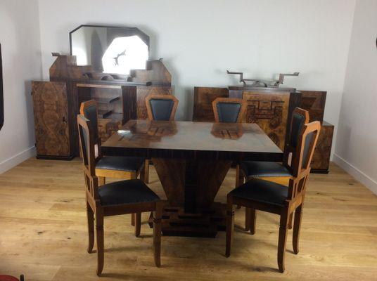 Art Deco Dining Room Set By Osvaldo Borsani 1