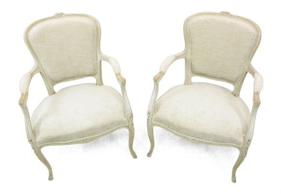 Antique Louis XV Style Chairs, 1900s, Set of 2 3 - Antique Louis XV Style Chairs, 1900s, Set Of 2 For Sale At Pamono