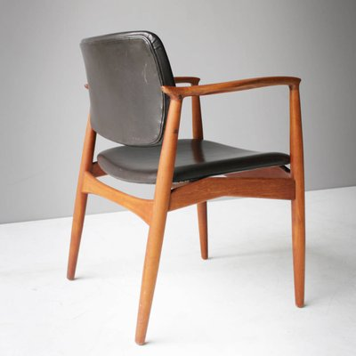 Teak And Leather Captainu0027s Chair By Eric Buck For Ø. Mobler, ...
