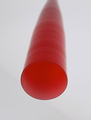 red glass hanging lamp from vistosi 3 - Red Lamp