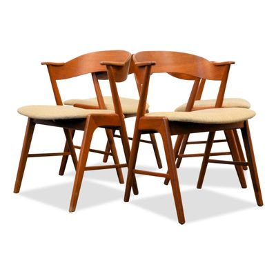 midcentury dining chairs by kai kristiansen for ks mbler set of 4 1