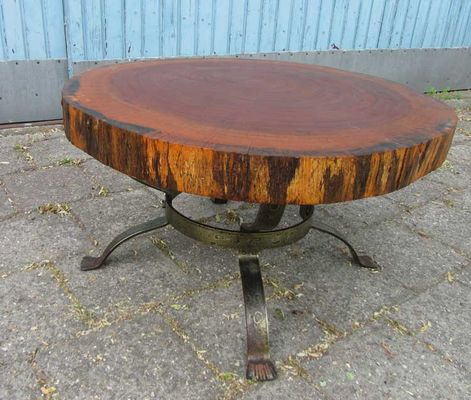 vintage tree trunk coffee table the netherlands 1960s