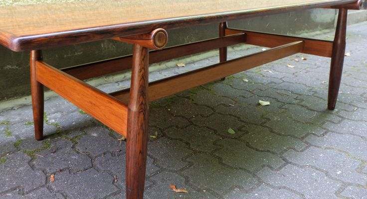 Mid Century Danish Rosewood Coffee Table, 1960s 10