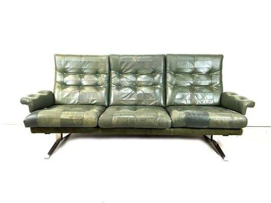 Patchwork leather sofa by arne norell for vatne mobler for sale at ...