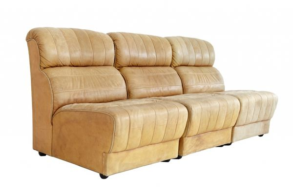 Natural Leather Sofa Elements 1960s Set Of 3 Pamono