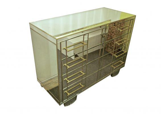 italienische verspiegelte mid century kommode. Black Bedroom Furniture Sets. Home Design Ideas