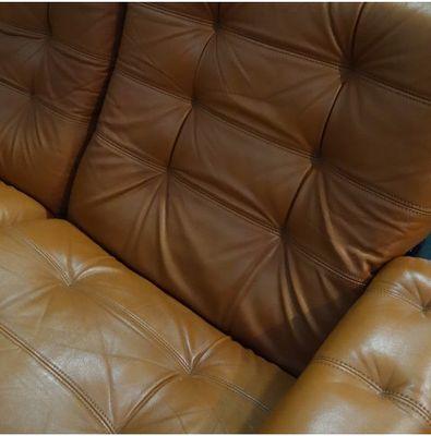 vintage 2 sitzer ledersofa pamono. Black Bedroom Furniture Sets. Home Design Ideas