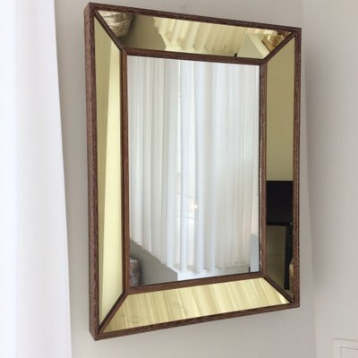 French Oak Framed Mirror, 1940s for sale at Pamono