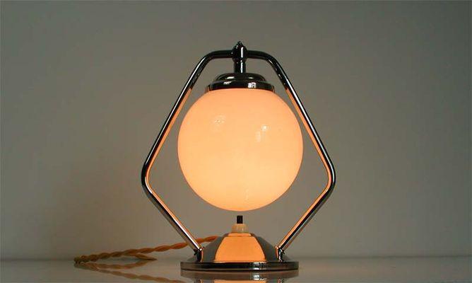 vintage chrome table lamp 3