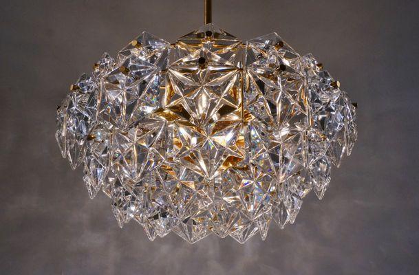 Kristall und Vergoldeter Metall Kronleuchter von Kinkeldey Design ...
