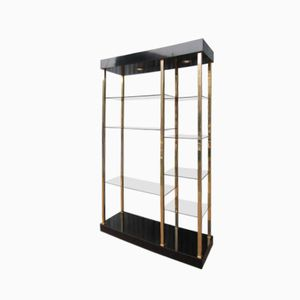Gold Plated Hollywood Style Shelving Unit from Belgochrom, 1970s