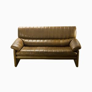 DS-85 Zwei-Sitzer Sofa aus Braunem Leder von De Sede