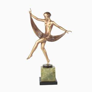 Figura Art Déco viennese in bronzo di Lorenzl
