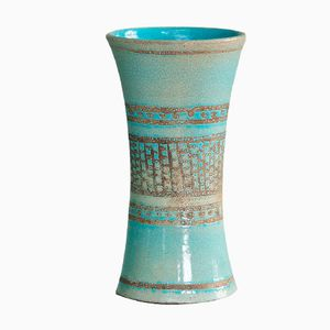 Ceramic Vase with Geometric Pattern by Jean Besnard, 1920s