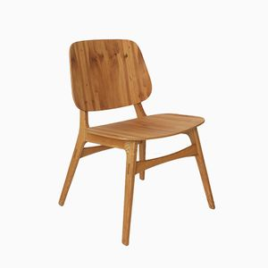 Scandinavian Ash Wood Chair, 1950s