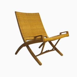 JH 512 Folding Rattan Chair by Hans Wegner for Johannes Hansen