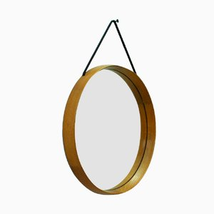 Swedish Solid Oakwood Mirror by Uno and Östen Kristiansson for Luxus, 1960s