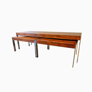 Rosewood Nesting Tables by Richard Young for Merrow Associates, Set of 3