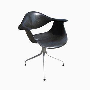 Schwarzer DAF Stuhl von Charles Pollock für Herman Miller