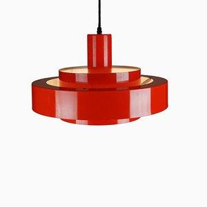 Lampe à Suspension Equator Rouge par Jo Hammerborg pour Fog & Mørup