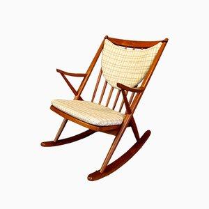Rocking Chair Gyngestol, Modèle 182, en Teck par Frank Reenskaug pour Bramin, Danemark, 1958